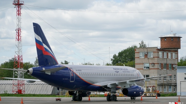 «Аэрофлот» отменил рейс на Superjet из Москвы в Пермь