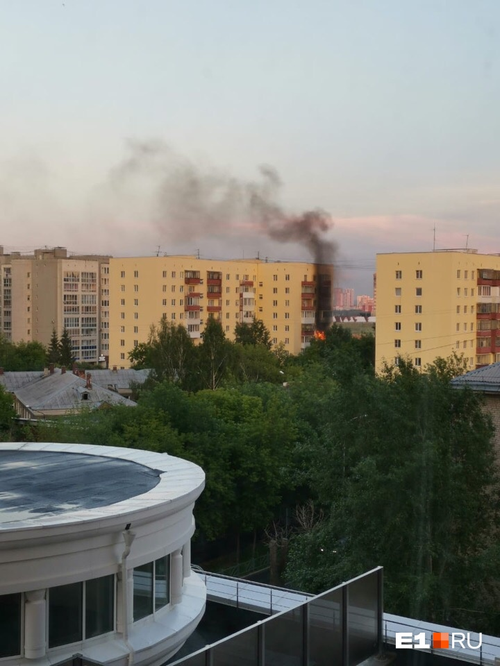 Так пожар выглядел сверху