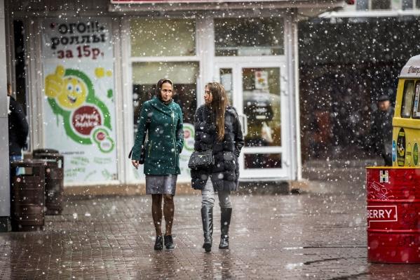 В пятницу, 8 ноября, в Новосибирске ожидаются мокрый снег с дождём и ветер с порывами до 19 метров в секунду