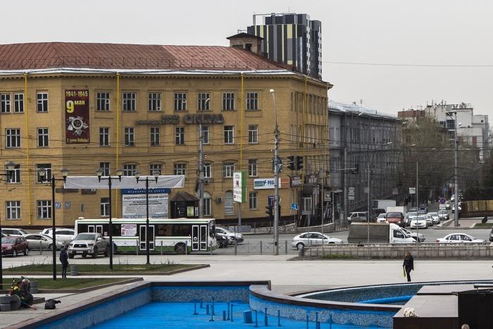 ДТП произошло на площади Пименова у ГПНТБ