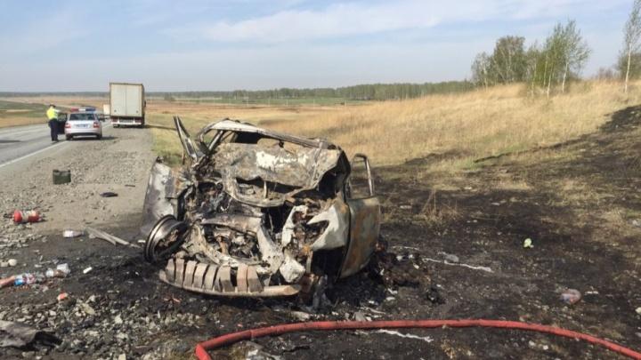 «Торопились ребята»: Lexus, сгоревший под Челябинском, перед ДТП с четырьмя жертвами тормозила ДПС
