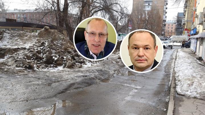 Василенко — главе Советского района об уборке улиц: «Перестаньте дурачить жителям мозги»