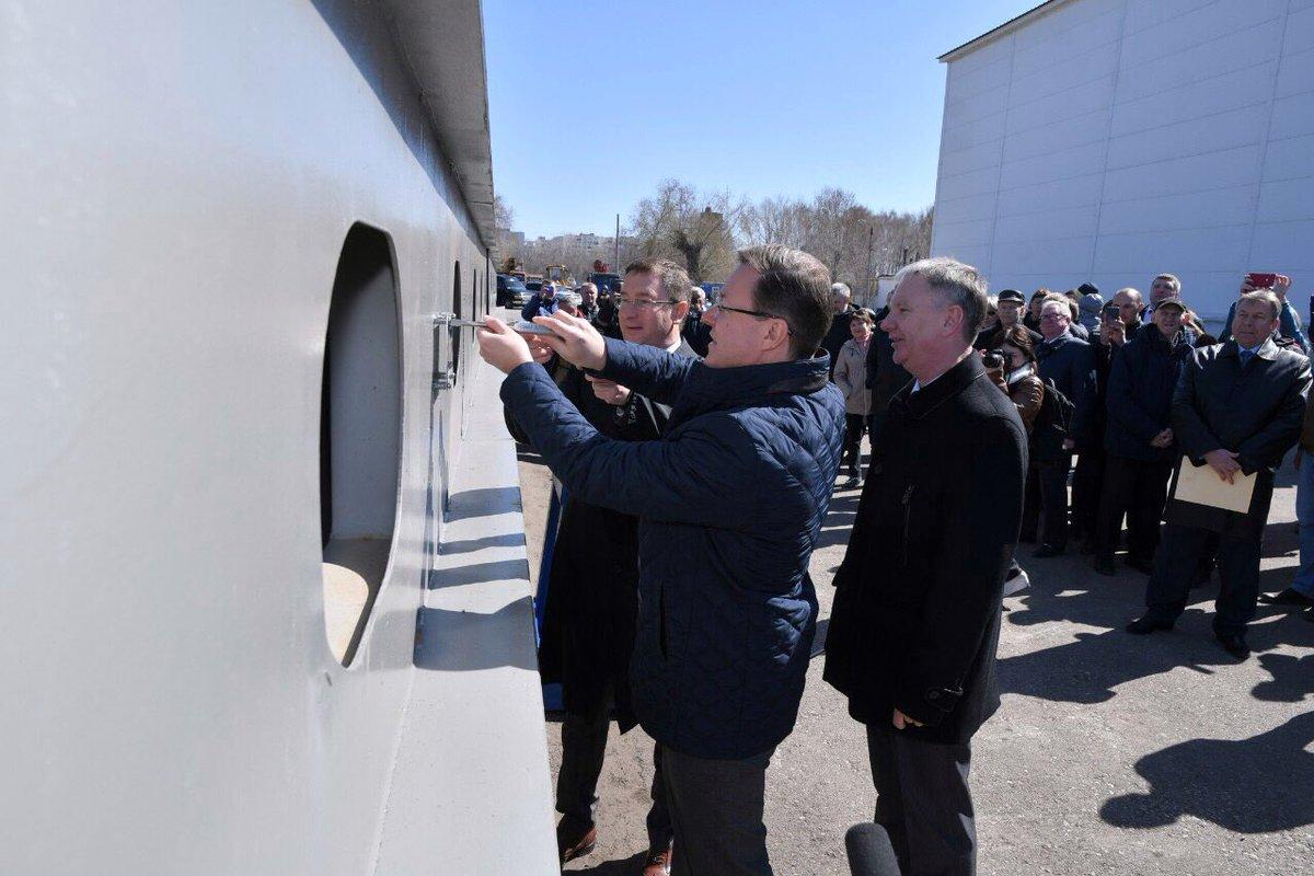 Ради исторического события на завод прибыл губернатор Самарской области