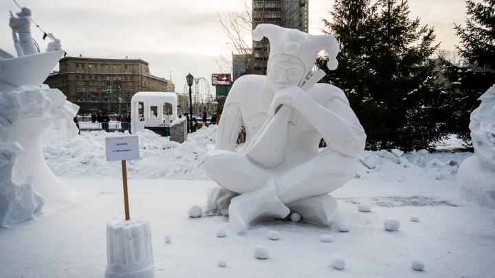 В Новосибирске выбрали самые красивые снежные скульптуры: призы уедут в Омск и Санкт-Петербург