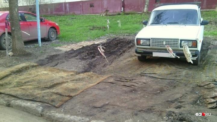 В Самарской области хотят ввести новые штрафы за парковку на газонах