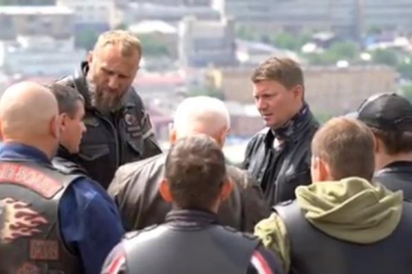 «Ночные волки» на встрече с мэром Красноярска