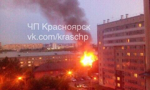 На Калинина за несколько минут полностью сгорел деревянный дом