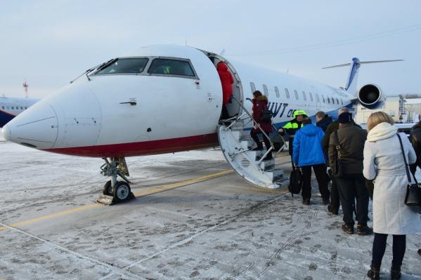 В рейсы отправляются самолеты вместимостью 50 человек
