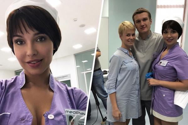 Ростовская звезда Playboy Мария Лиман предстала перед телезрителями в образе сексуальной медсестры