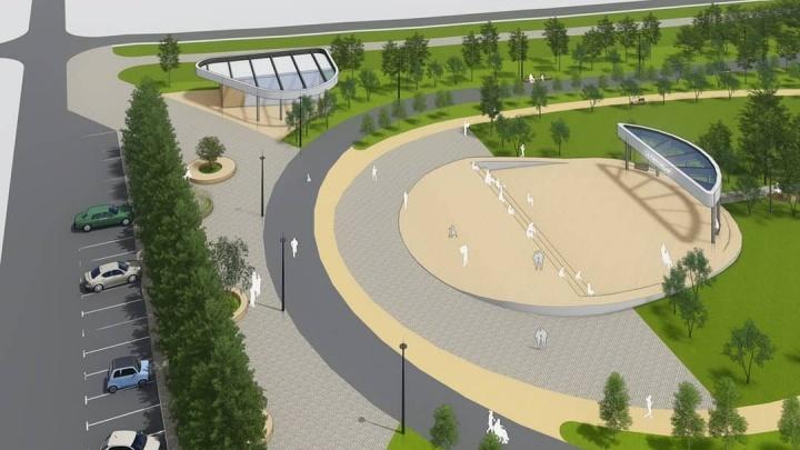 Огромный парк за «Солнечным» презентовали и выставляют на слушания