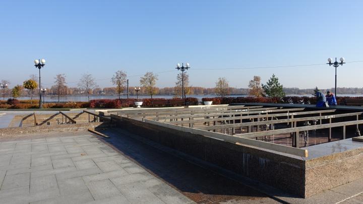 Фонтаны в Ярославле готовятся к зиме