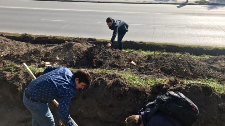В центре Омска раскопали фундамент Ильинской церкви и обнаружили старинный ключ
