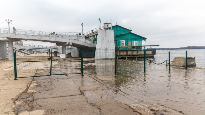 У Самары вода в Волге поднялась до весенних отметок