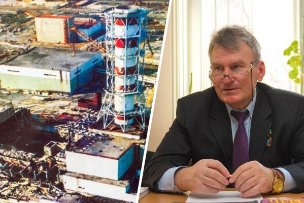 Военный летчик Александр Елистратов возле реактора провел шесть дней