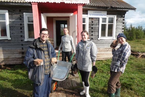 Волонтеры провели в Лопшеньге неделю в августе этого года