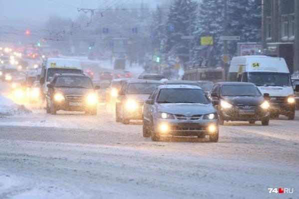 На дорогах небольшая наледь и снежная каша