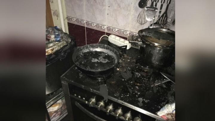 В Уфе сгорела квартира из-за оставленной без присмотра включенной газовой плиты