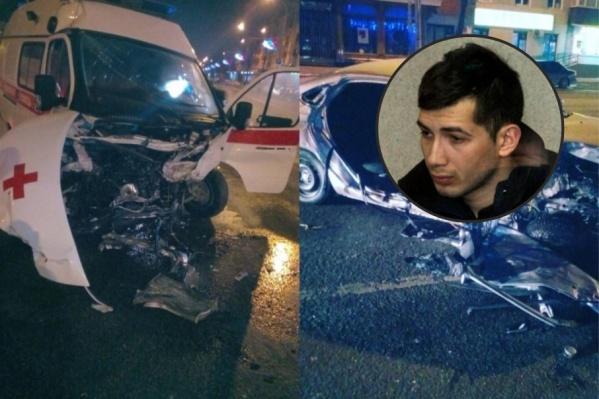 Александр был за рулем Lada, которая врезалась в машину скорой помощи в центре Перми
