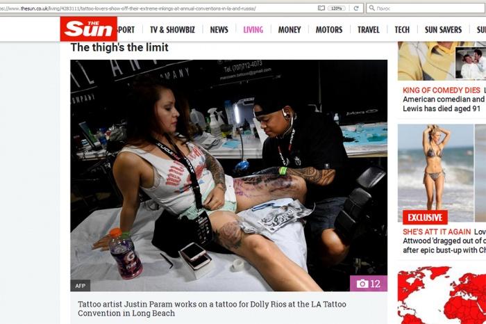 Таблоид сравнил калифорнийских и новосибирских татуировщиков