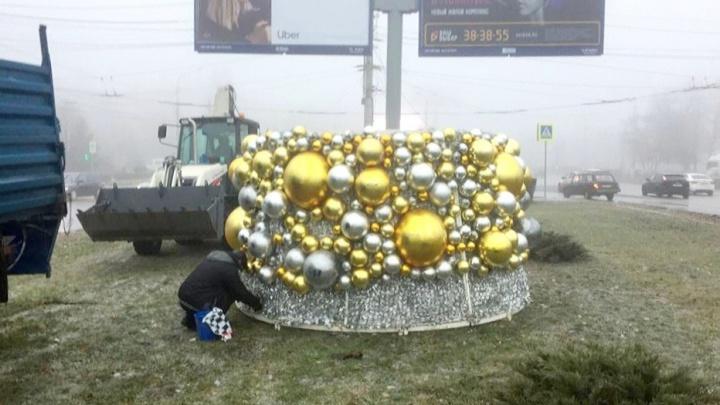 Золотую шароель начали собирать на проспекте Жукова в Волгограде