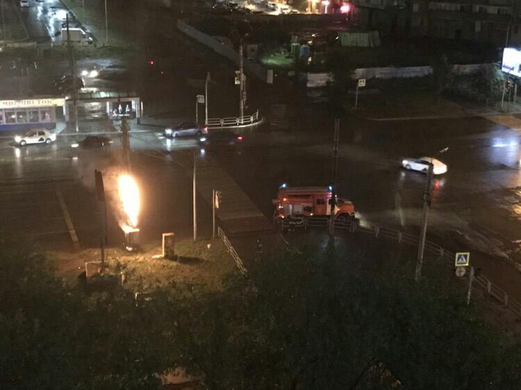 В тушении светофора был задействован один автомобиль МЧС