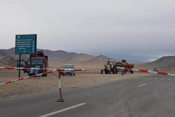 Выезд из монгольского города Улгий сейчас запрещён