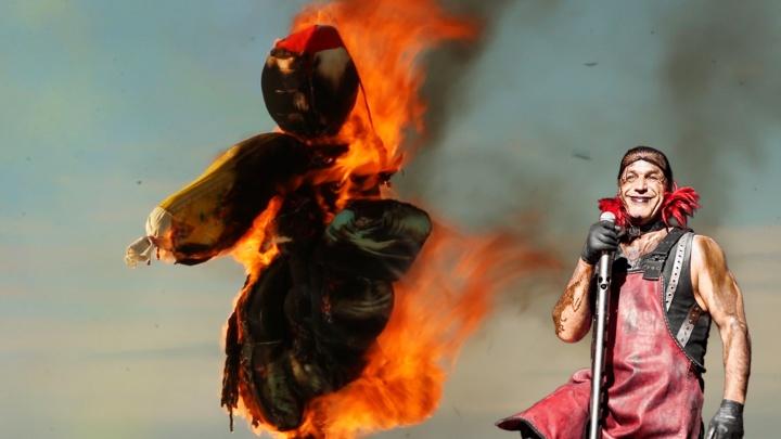 Парням из Rammstein бы понравилось: видео сожжения чучела Масленицы в Архангельске