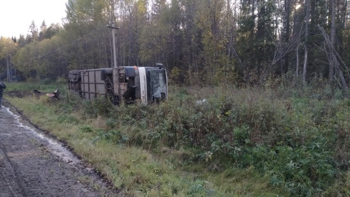В Прикамье перевернулся рейсовый автобус: пострадала пассажирка