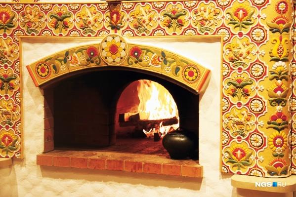 Печью для пиццы в Новосибирске уже никого не удивить, а вот русских печей до «Добрянки» не было ни у кого