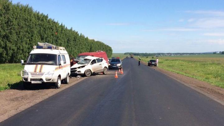 Смертельная авария в Башкирии: водитель Hyundai въехал в «Газель»