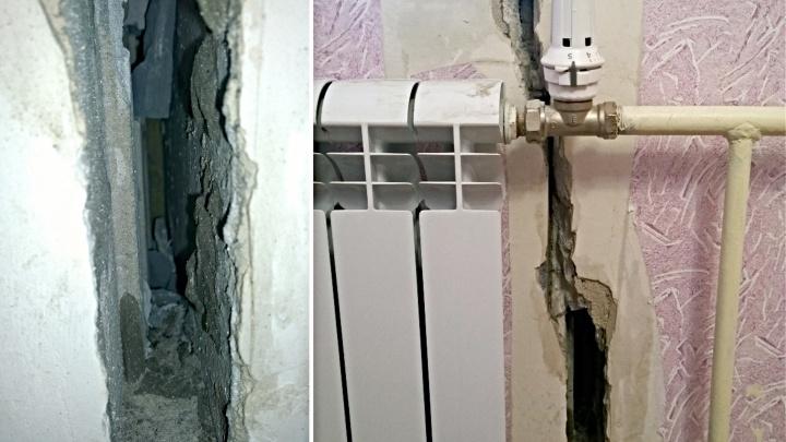 Жители многоэтажек в «Ямальском-2» находят в стенах своих квартир сквозные щели на улицу