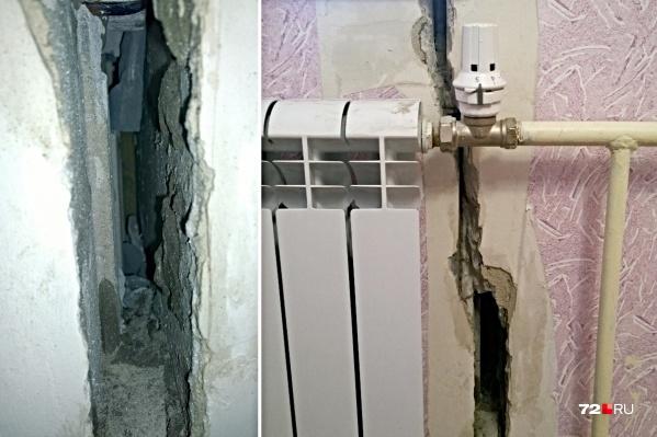 Жильцы этой квартиры теперь советуют всем соседям снять обои и проверить стены