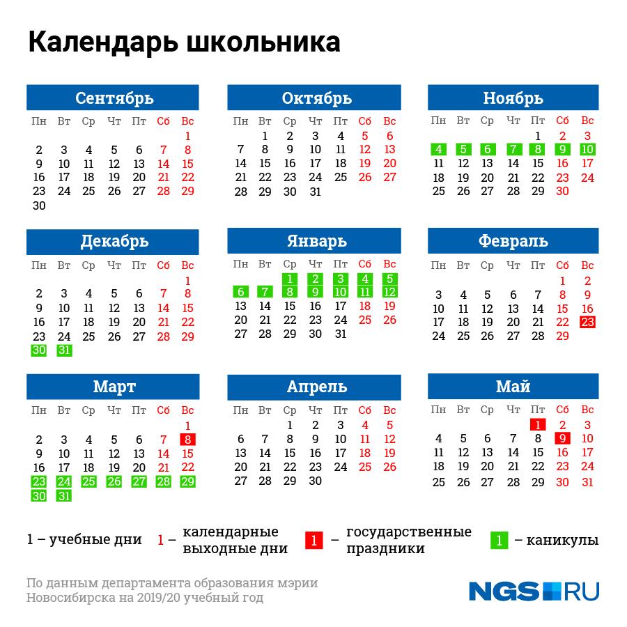 Следующие каникулы у учеников продлятся 14 дней