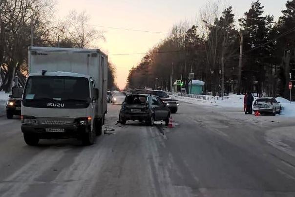 Авария случилась рядом с поворотом на улицу Эйхе