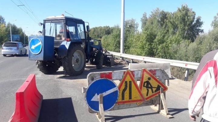 В Уфе начали ремонт трассы, которую ливень смыл в начале лета