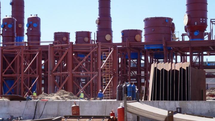 На новой выпарной станции АЦБК закончили монтаж крупногабаритного оборудования