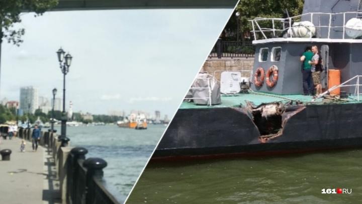 В Ростове у набережной сухогруз «Усть-Илимск» протаранил катер
