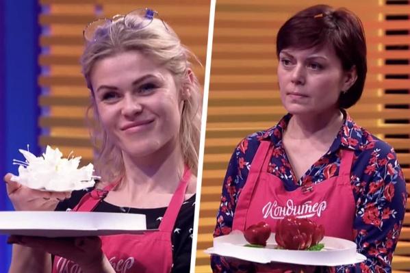 Анна Муротханова (слева) и Ирина Березовская (справа) приняли участие в суперфинале шоу «Кондитер»