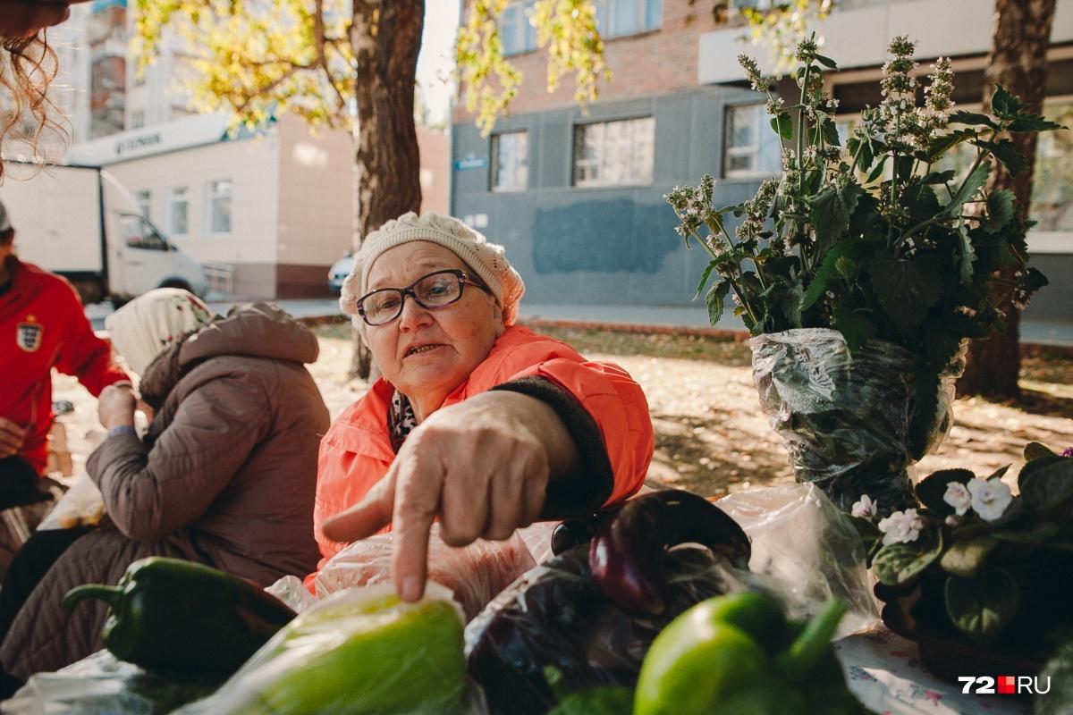 Пенсионерка Мария Фёдоровна говорит, что нынче урожай запоздал на целый месяц. Эти перчики должны были покраснеть к сентябрю, но в итоге их пришлось срезать зелеными