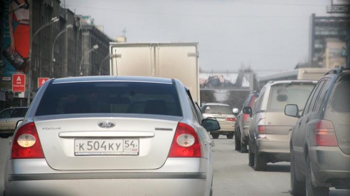 По Новосибирску протянулась 8-километровая пробка
