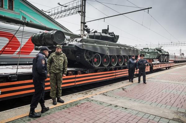 Агитпоезд прибыл на вокзал Новосибирск-Главный