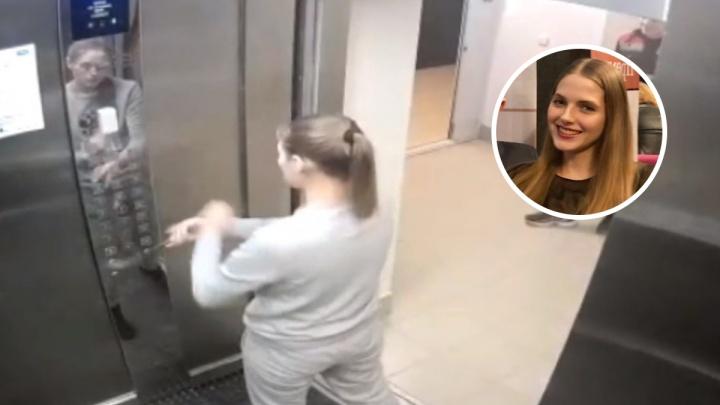 Жительница элитного дома в центре Екатеринбурга разбила лифт монтировкой