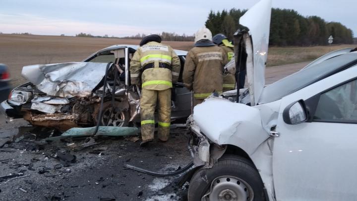 Водитель умер в больнице: на трассе в Ярославской области лоб в лоб столкнулись две легковушки