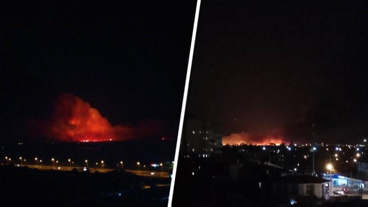 Рядом с Батайском опять начался ландшафтный пожар