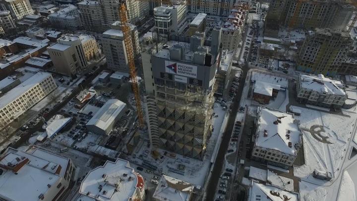 Медный «ананас» оброс чешуйками: летаем над будущей штаб-квартирой РМК в Екатеринбурге