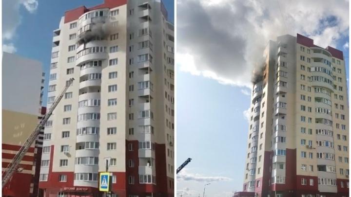 Одного человека доставили в ожоговое отделение после пожара в многоэтажке на Гольцова