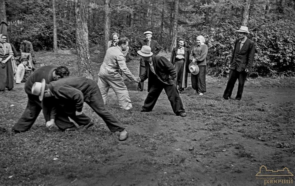 Поездка в Ильменский заповедник. Мужские забавы. 1957 год