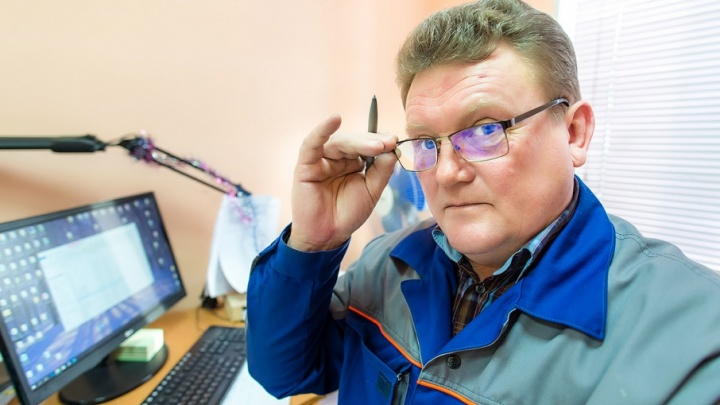 Пройдёт по льду и сугробам: сотрудник челябинского завода смастерил «мотособаку»