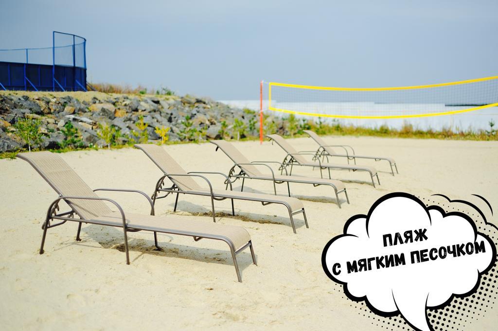 Жителям нравится отдыхать на оборудованном песчаном пляже