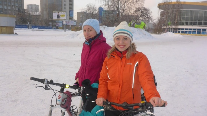 Сибиряки устроили долгий заезд на велосипедах после новогодней ночи